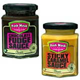 #5: Posh Nosh Sweet Treat Combo Pack of Chocolate Fudge Sauce & Sticky Caramel Sauce (No Preservatives)