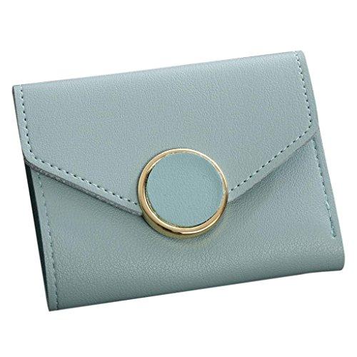 Portafoglio Donna, Tpulling Borsa delle borse della borsa della moneta del raccoglitore del raccoglitore delle donne semplice (Brown) Blue
