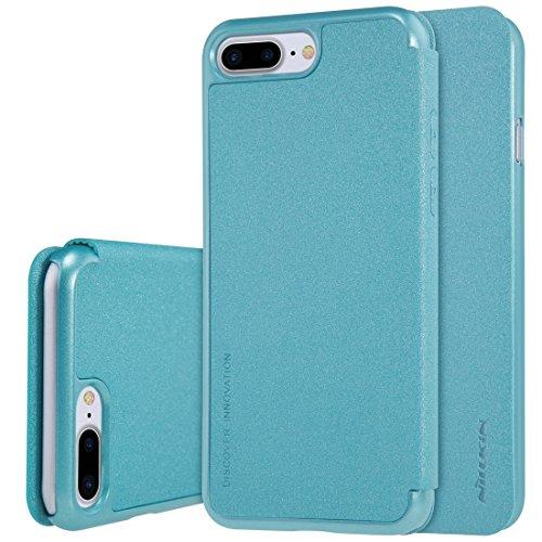 Hülle für iPhone 7 plus , Schutzhülle Für iPhone 7 Plus Mattierte Textur Horizontale Flip Leder Tasche ,hülle für iPhone 7 plus , case for iphone 7 plus ( Color : White ) Blue