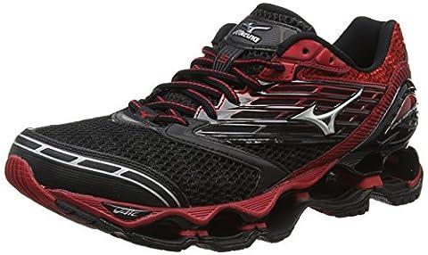Mizuno Wave Prophecy 5, Chaussures de Running Compétition Homme, Noir-Black (Black/Silver/Chinese Red), 42 EU