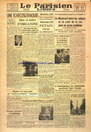 PARISIEN LIBERE (LE) [No 237] du 20/05/1945
