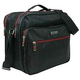 Bag Street Borsa da spalla per uomo di alta qualità | Borsa da lavoro, borsa da uomo in robusto nylon | nero