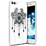 Coque Huawei P Smart/Enjoy 7S, Etui Housse pour Huawei P Smart/Enjoy 7S, TRANSPARENTE SOUPLE SILICONE TPU étui de Protection, Surakey [Ultra Mince] Bumper Huawei P Smart/Enjoy 7S Coque Protection avec Impression de Motifs Housse Protecteur Thin Fit Cas en Gel Caoutchouc Premium Semi Hybrid Crystal Clair Case Cover Flex Soft Skin Arriere Téléphone Couverture avec Absorption de Choc Ultra Fine Léger Coque Housse Étui pour Huawei P Smart/Enjoy 7S (Campanule)