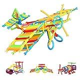 infinitoo Blocs de Construction 800pcs Bâtons de Blocs Construction Colorée | Jouet de Construction 3D Educatif et Créatif | DIY 3D Assemblage pour Enfants 3+