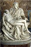 Posterlounge Cuadro Sobre Lienzo 80 x 120 cm: Pieta by Michelangelo de James L. Stanfield/National Geographic - Cuadro Terminado, Cuadro Sobre Bastidor, lámina terminada Sobre Lienzo auténtico, im.