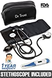 Dr Trust (USA) Sphygmomanometer Aneroid Type Manual Blood Pressure Monitor with Stethoscope Includes
