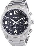 Fossil Herren-Armbanduhr XL Chronograph Quarz Edelstahl FS4862