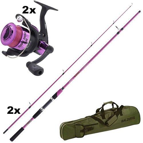 2-x-Angelset-Balzer-Modul-Shika-45-pink-Rutenfutteral-145-m