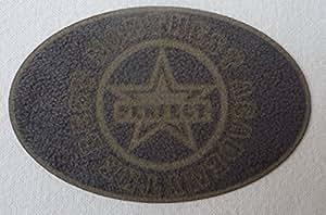 Application à repasser ovale Gris Faux Daim 5cm x 7,5cm