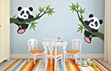 #6: Wow Interiors Panda Hanging On A Branch Multicolor Removable Decor Mural Wall Stickers