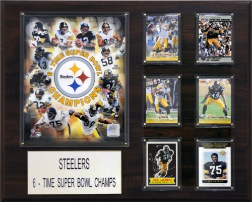 C & I Collectables NFL Pittsburgh Steelers 6 Zeit Champions Plaque
