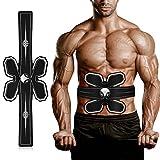 Electroestimulador Muscular Abdominales Masajeador Eléctrico Cinturón, Abdomen / Brazo / Piernas / Cintura Entrenador Muscular,USB Recargable, 10 Niveles de Intensidad (Hombre / Mujer) BA
