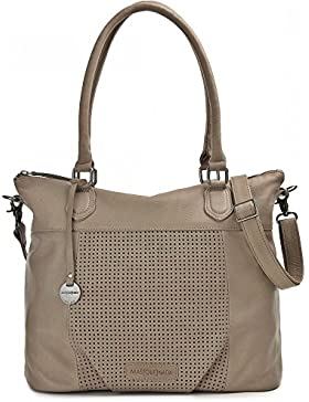 MASQUENADA, Leder Damen Shopper,