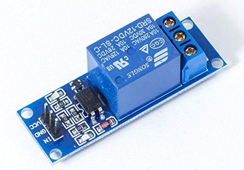 MissBirdler 1-Kanal Relais Relay Modul 12V blau für Arduino Raspberry Pi PIC AVR ARM MCU