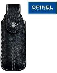 Opinel Chic - Funda para cuchillos Opinel (piel, para mangos de 10, 11 y 12 cm), color negro