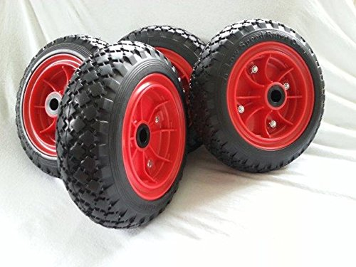 Preisvergleich Produktbild 4 Sackkarrenräder Räder für Sackkarre Bollerwagen pannensicher 250x75mm