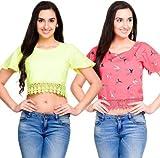Addyvero Women's Crop top(Pack of 2)
