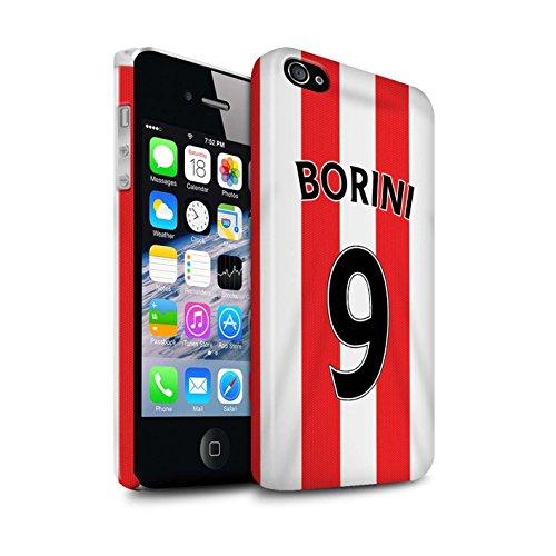 Offiziell Sunderland AFC Hülle / Glanz Snap-On Case für Apple iPhone 4/4S / Pack 24pcs Muster / SAFC Trikot Home 15/16 Kollektion Borini