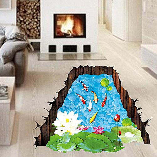 3d-estilo-peces-lotus-leaves-pond-pared-hogar-papel-adhesivo-extrable-living-comedor-dormitorio-coci