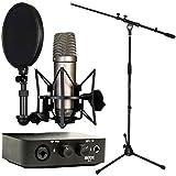 Rode NT1-A Mikrofon + AI-1 Audio-Interface + KEEPDRUM Mikrofonständer