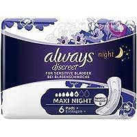 Always Discreet pour fuites urinaires Lot Plus Maxi Night urinaires, (8x 6pièces)