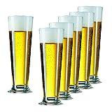 Bierglas Gläser-Set Serie Linea 6 teilig | Füllmenge 390 ml | Altbiertulpe ideal für Pilsener Biergläser | Perfekter Biergenuss mit Freunden - 3
