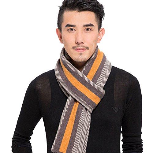 Foulard épais long masculine/ écharpe mixte-laine-tricot rayé en Angleterre A
