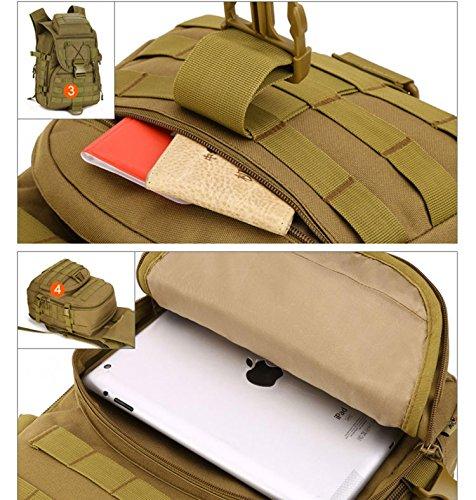 Protector Plus Vacanze 40L Unisex Outdoor Sport Rucksack Zaino impermeabile Daypack Borse per Uomini Donne Escursioni Trekking Camping Viaggi , E B