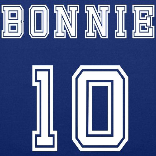 Spreadshirt Valentinstag Berühmte Paare Bonnie Schriftzug Stoffbeutel Royalblau