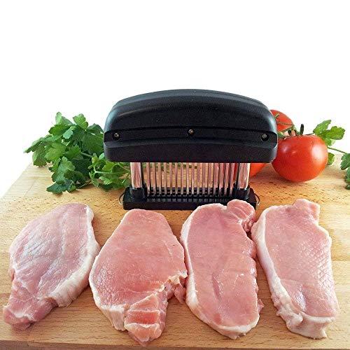 Voarge 1 Stück Fleisch Fleischklopfer, Professionelle Küche Kochwerkzeug Fleischklopfer Werkzeug für Rindfleisch, Steak, Huhn, Fleischnadeln 48 Nadeln Edelstahl Fleischzartmacher