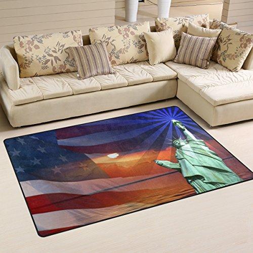 bennigiry Memorial Day Unabhängigkeit USA Flagge rutschfeste Bereich Teppich Pad Teppichunterlage für harte Böden, rutschfeste Teppich Matte Teppich Untergrund für Wohnzimmer Schlafzimmer 152x 99cm (152,4x 99,1cm)