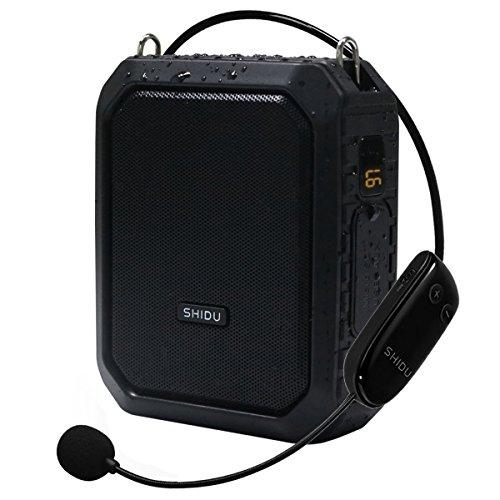 Amplificatore vocale, altoparlante Bluetooth, microfono UHF con altoparlante Altoparlante portatile corno18W per esterni, insegnanti, allenatori, anziani, guida turistica, presentazione e altro