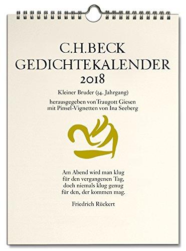 C.H. Beck Gedichtekalender: Kleiner Bruder 2018 (34. Jahrgang)