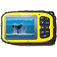 Appareil Photo Numérique Etanche, Pyrus Mini Caméra Etanche Numérique G051 2.7 Pouces Caméras LCD MP16 Caméra Numérique Etanche 10m Eau + Caméra Zoom 8X (Jaune)