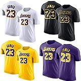 Shelfin Jersey de Hombre Camiseta De La NBA Los Angeles Lakers James # 23 Baloncesto, Mangas Cortas, Hombres, Estudiantes, Adolescentes JAMES23, Blanco (Color : Purple, Size : M)
