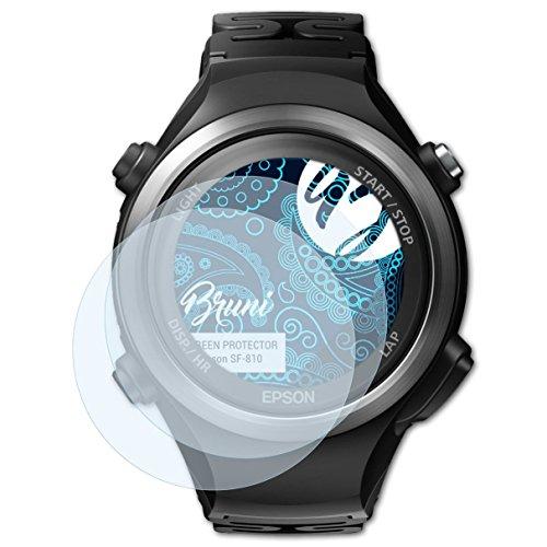 Bruni Schutzfolie für Epson SF-810 Folie, glasklare Bildschirmschutzfolie (2X)