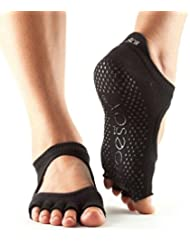 Toesox Ytoentbellarinablkm, Calze per Yoga E Pilates Unisex – Adulto, Black, Medium
