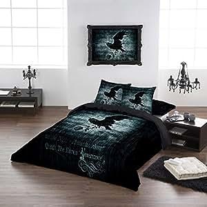 Alchemy Gothic Nevermore Housse de couette-Super King 260X220 cm