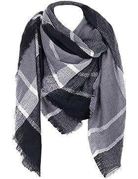 Grandi Scozzese Sciarpa Donna Inverno - Tartan Plaid Oversize morbida sciarpa calda coperta scialle