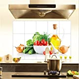 Fruit Pattern Kitchen Wall Paper Foil Wall Sticker Hot Oil Proof Decoration