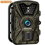 Earthtree Wildkamera, 12MP 1080P Full HD Jagdkamera Low Glow Infrarot 20m Nachtsicht...