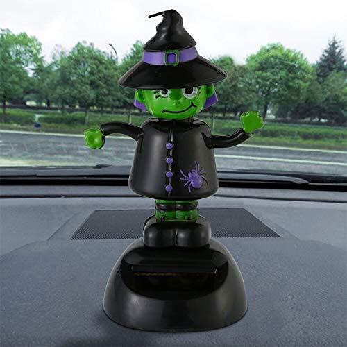 Zucca Di Halloween Ornamenti Per Auto Zombie Decorazione Di Interni Per Auto Carina Bambola Scossa Testa Di Bambola Energia Solare Bobble ArabaV