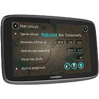 TomTom GO Professional 6200 (6 pouces) - GPS Poids Lourds - Cartographie Europe 48 à Vie, Trafic 1 an (via Carte SIM Incluse)