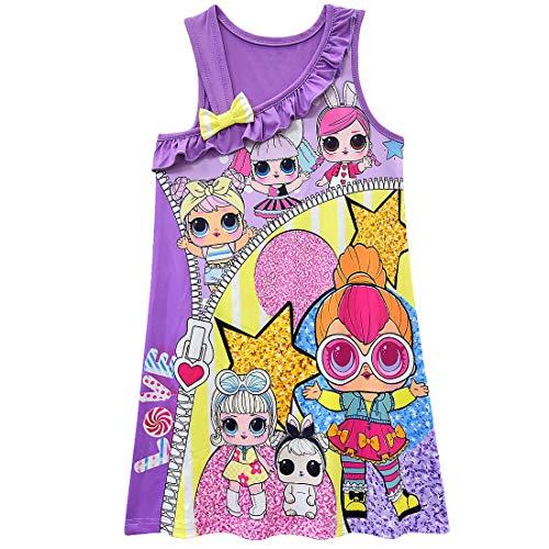 QYS L.O.L Überraschung! Mädchen Puppen Nachthemd Pink,Purple,130cm (Puppe Mädchen Und Nachthemd)