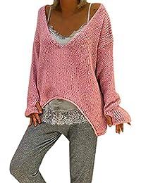 Riou Kapuzenjacke Damen Mäntel,Winter Warmer Hoodie Pullover lang  Strickjacke Winterjacke Frauen Warm V- 8160eee132