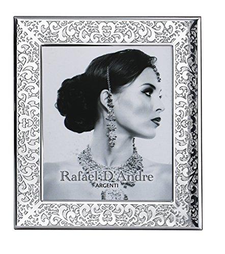 Marco Fotos barroco–GBG Linea Rafael D Andre cm 18x 24Retro Madera BI laminado plata...