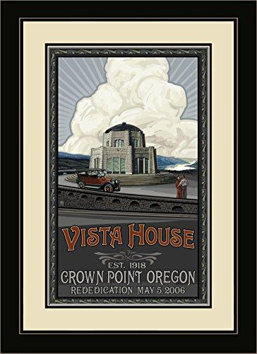 Northwest Art Mall pal-0099mfgdm Vista House rededication gerahmt Art Wand von Künstler Paul A. lanquist, 13von 40,6cm