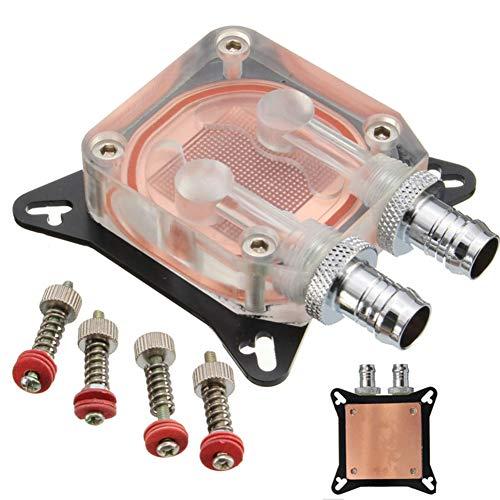 Dandeliondeme G1/4 Gewinde Wasserkühler Block Kupferbasis Flüssigkühler für Computer GPU