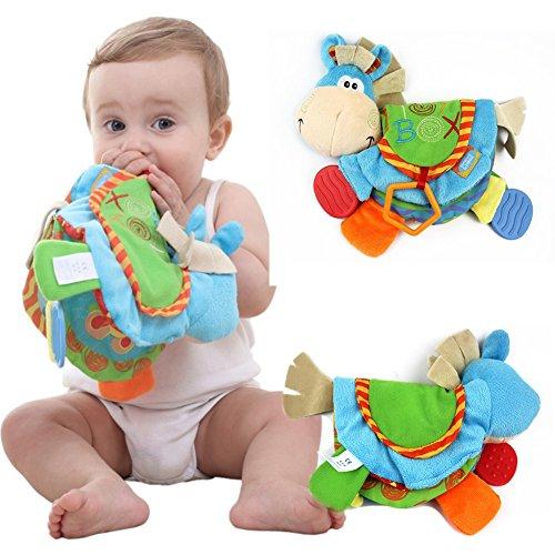 Balai Soft Book Vorschule Crinkle Tuch Bücher, handgemachte Lernspielzeug für Baby Kleinkind mit Beißring Funktion