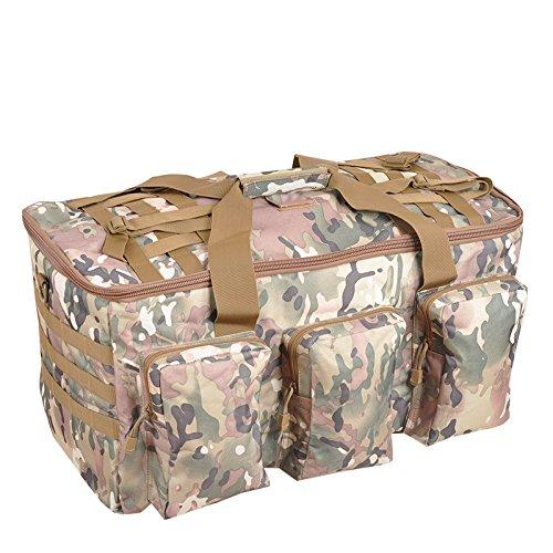 BM Super capacità arrampicata borsa zaino zaino viaggi a lunga distanza all'aperto zaino impermeabile borse da viaggio , wolf brown jungle camouflage